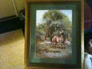 home interior framed deer picture excellent berwick pa home interior deer picture ebay