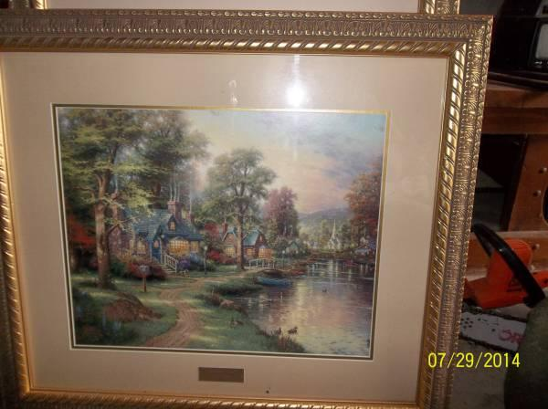 Home interior thomas kinkade prints for sale in carlisle - Home interiors thomas kinkade prints ...