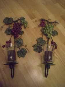 Home Interiors/Celebrating Home Grape Candle Sconces