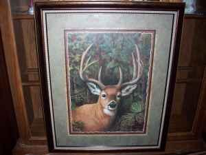 Home interiors gifts graceful deer framed print - Home interior deer pictures for sale ...