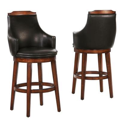 Homesullivan Barstow Walnut 29 In Swivel Bar Stool Set