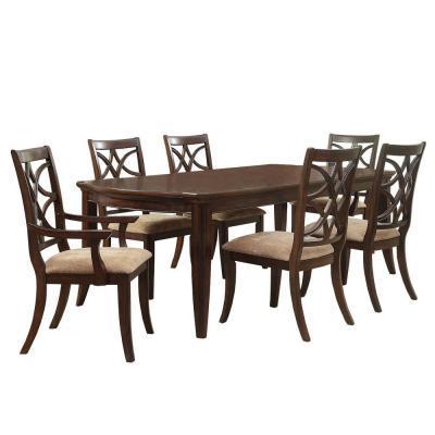 HomeSullivan Hampton 7 Piece Dark Oak Dining Set