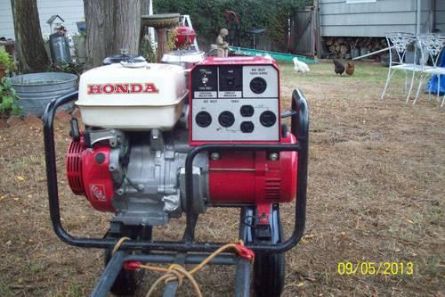 honda egx generator  watts peak load  sale  seattle washington classified