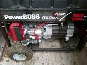 honda power boss 7000 watt generator with electric
