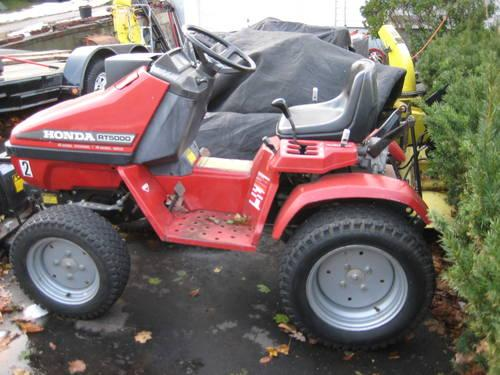 honda rt5000 compact tractor 4x4 sdt trans 48 mowerdeck 42 hyd plow for sale in new haven. Black Bedroom Furniture Sets. Home Design Ideas