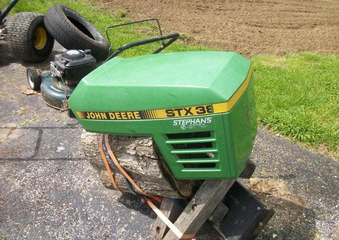 Lawn Tractor Hoods : John deere stx riding lawn mower tractor hood car