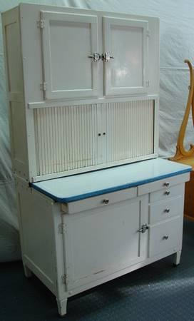 Hoosier Cabinet Amp Birds Eye Maple Dresser Both 1920 S