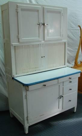 Hoosier cabinet birds eye maple dresser both 1920 39 s for Birds eye maple kitchen cabinets