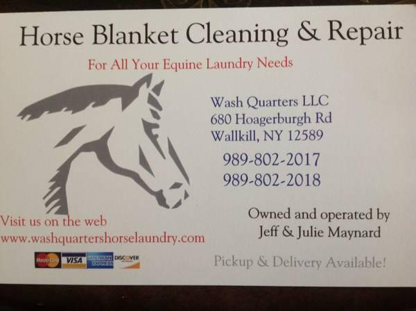 Horse Blanket Washing and Repair