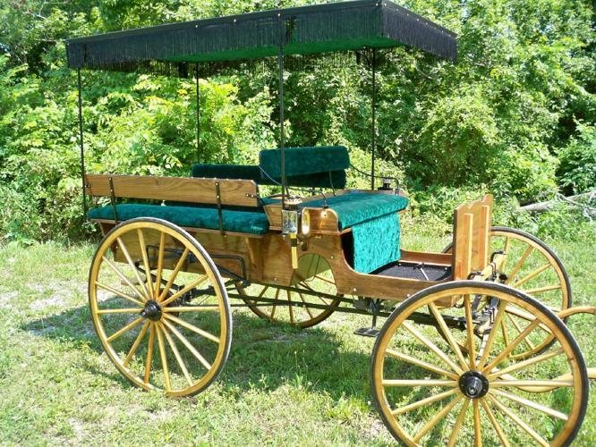 Amish Wagon Parts : Horse drawn buggy wagon carriage new passenger