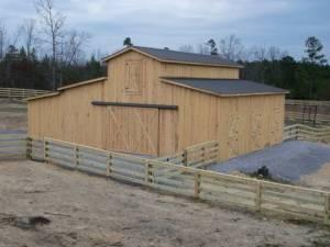 Horse Barn 36x36 With Hay Loft For Sale In Macon Georgia