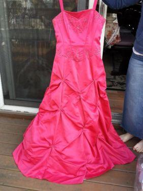 hot pink formal or prom dress