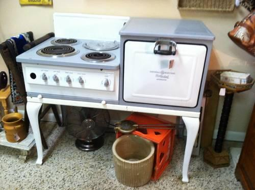 Hot Point Ge Electric Oven Stove 1940 S 3rd Burner 4th
