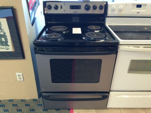 Hotpoint Stainless Amp Black Electric Range Stove Oven