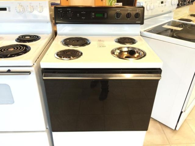 Hotpoint white black electric range stove oven used for Lakewood wood stove for sale