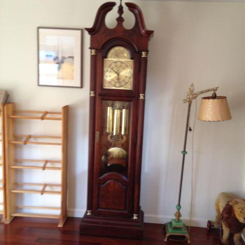 Howard Miller Cherry Grandfather Clock For Sale In New
