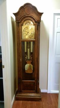 Howard Miller Triple Chiming Floor Clock, Like New