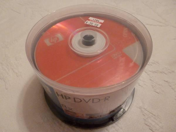 HP DVD-R 8x, 50-pack, Never Opened - $10