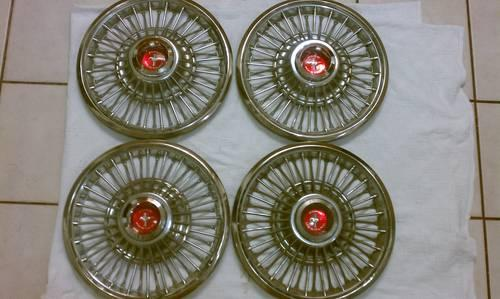Hubcaps Set Of 4 Ford Mustang Vintage 1967 69 New Rare For