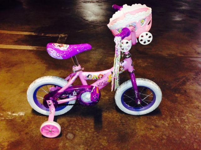 Huffy Disney Princess 12 bike with training wheels