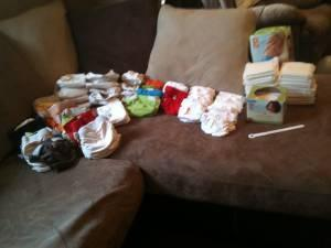 HUGE bundle of cloth diapers!! (gDiapers) - $140