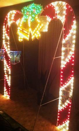 Huge Christmas Outdoor Decoration Candy Cane Twinkle