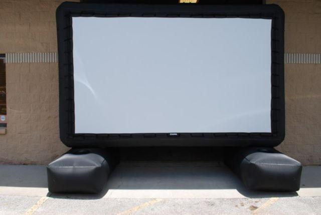 Huge inflatable outdoor movie screen