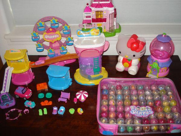HUGE Lot Girls SQUINKIES, Adventure Mall, Hello Kitty, Barbie House - $80 Keizer, OR