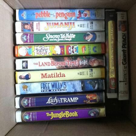 HUGE LOT of 70 Kids VHS Tapes: Disney, Christmas, Elmo & more - $30