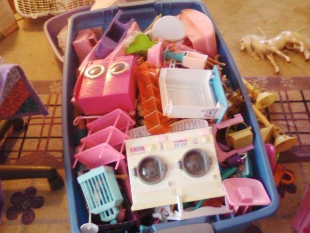 Huge lot of Barbie House, Barbies, Furniture and more
