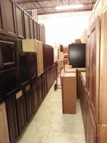 Huge sale on new kitchen bath cabinets displays already for Kitchen cabinets you put together