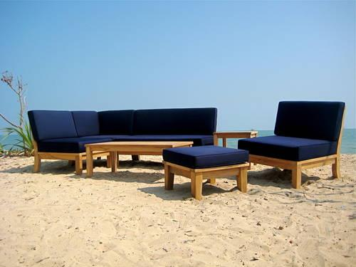 Teak Wood Sectional Outdoor Patio Garden
