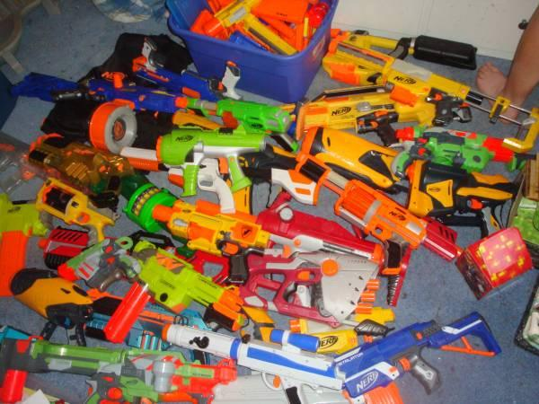 Huge used toy lot starwars nerf lego more - $400