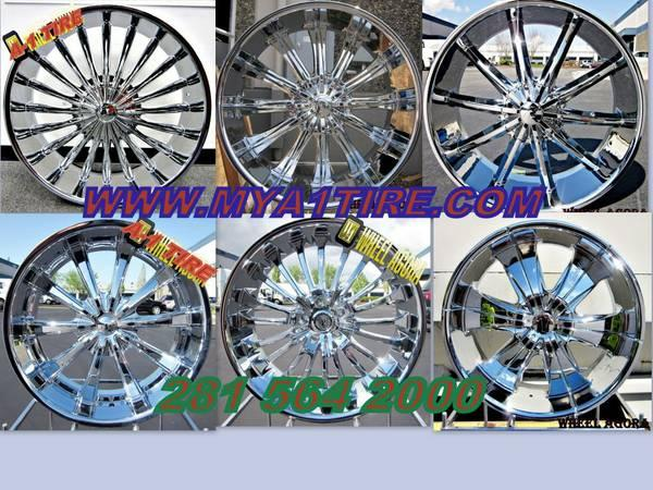 ____huge wheels on deck all new chrome wheels are in stock____ a-1 ti
