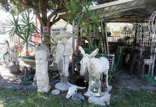Huge Yard Amp Garden Cement Statuary Of Mexican Man And His