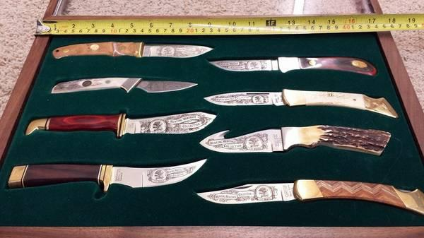 Hunting Heritage Collection SET OF EIGHT KNIVES with