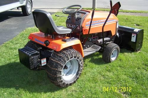 Husqvarna tractor, mower, snowblower