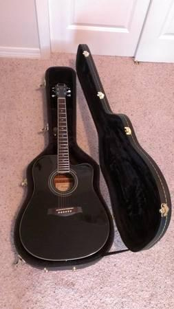 Ibanez Acoustic/Electric guitar w/hard case - $200