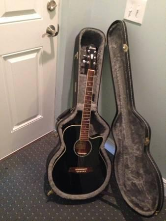 Ibanez Acoustic-Electric Guitar with hard case - $200