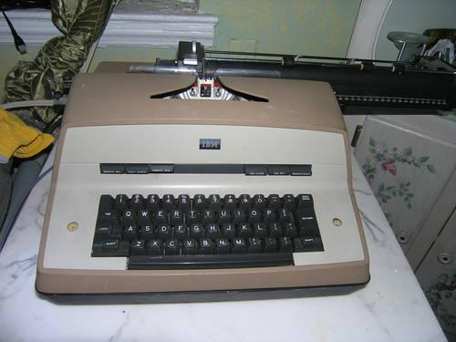 IBM electric typewriter not working for parts only