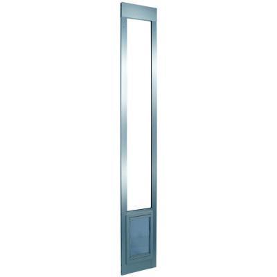 Ideal pet 5 in x 7 in small mill aluminum pet patio door for Ideal dog door