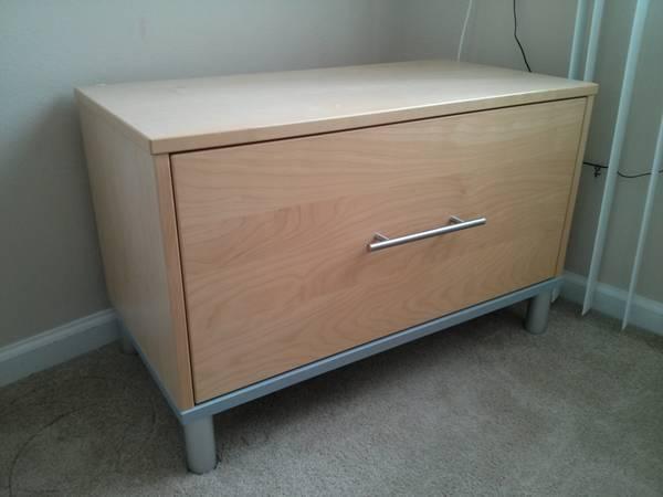 IKEA Beech Filing Cabinet   $40