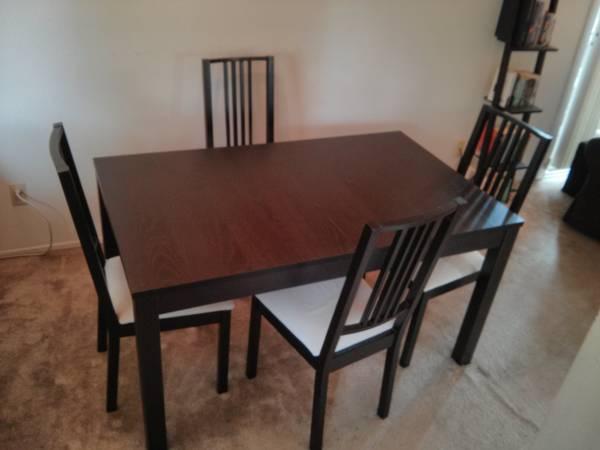 Ikea bjursta extendable table for sale in palo alto for Palo alto ikea