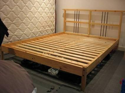 Ikea Dalselv Full Bed Frame - for Sale in Philadelphia, Pennsylvania ...