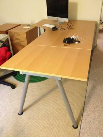 ikea galant corner desk l shape desk excellent condition for sale in