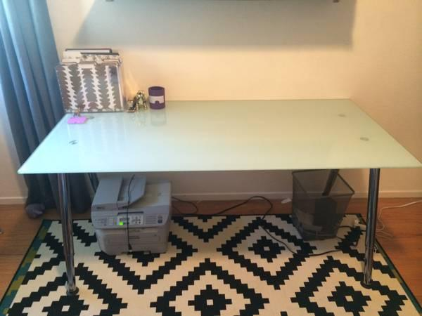 ikea glass galant desk great condition for sale in. Black Bedroom Furniture Sets. Home Design Ideas