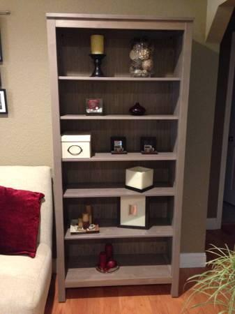 ikea hemnes bookcase shelves gray brown for sale in redwood city