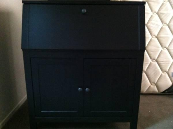 ikea hemnes secretary black brown for sale in menlo. Black Bedroom Furniture Sets. Home Design Ideas