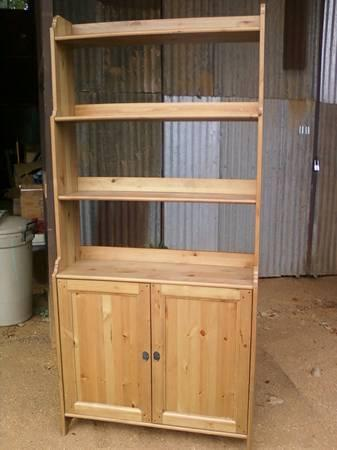 Ikea Knotty Pine Hutch Shelves Storage For Sale In