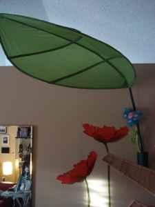 IKEA - LÖVA Bed canopy Big green Leaf by mf - $5 & IKEA - LÖVA Bed canopy Big green Leaf by mf - (Palmetto) for Sale ...
